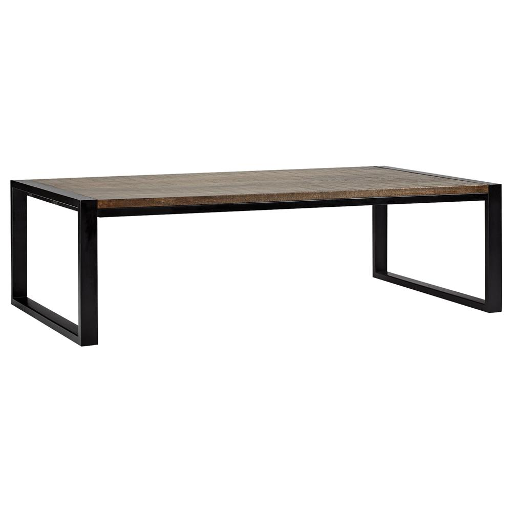 Atelier industrial chic wood coffee table with metal legs coffee tables c - Patte de table metal ...