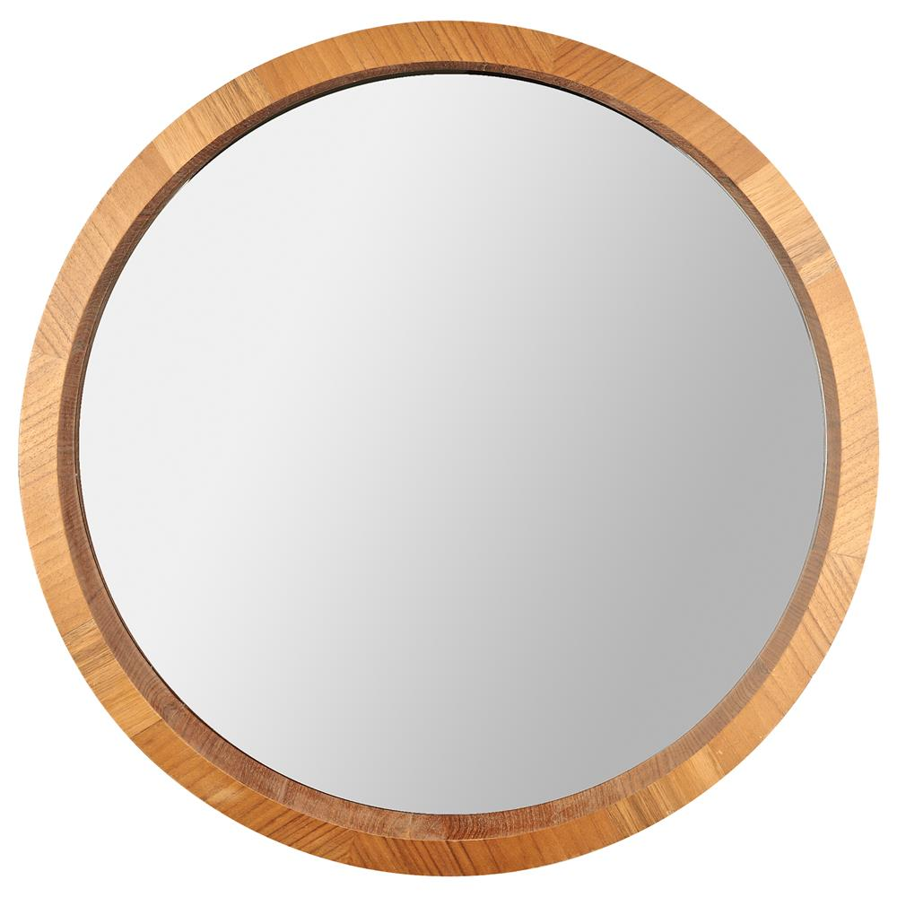 Loved wooden bathroom mirrors a natural hazelwood finish Round framed mirror
