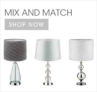 Mix and match your favorite lamp shade with one of our beautiful bases for a brilliant effect.