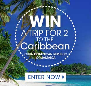 Enter our contest and get a chance to win a trip for two to the Caribbean.