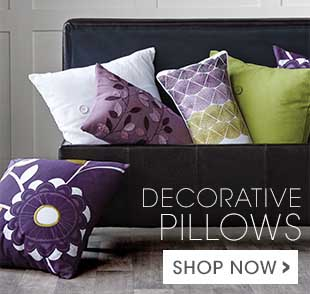 Shop for colourful cushions.