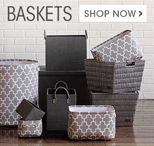 Shop now for trendy and practical storage baskets.