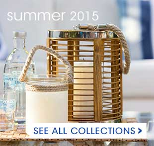 Summer collections are here! Shop for outdoor side tables, cushions and table linens in shades of summer!