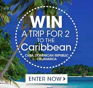 Win a trip for two to the Caribbean: enter now!