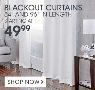 Shop our selection of practical and stylish blackout curtains – ideal for blocking light in your bedroom!