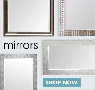A selection of mirrors of all shapes and sizes offering a variety of frames that will suit every room.