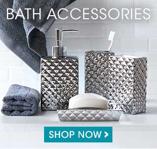 Shop our selection of bath accessories including soap dispenser, soap dish, tumbler, toothbrush holder, waste baskets and more.