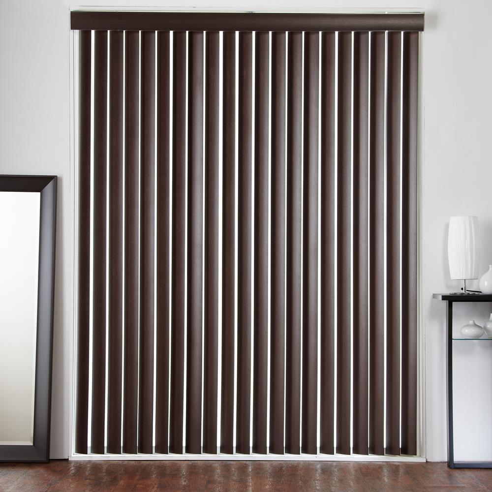 Faux wood vertical blind faux wood vertical blinds windows for Pellicule fenetre home depot
