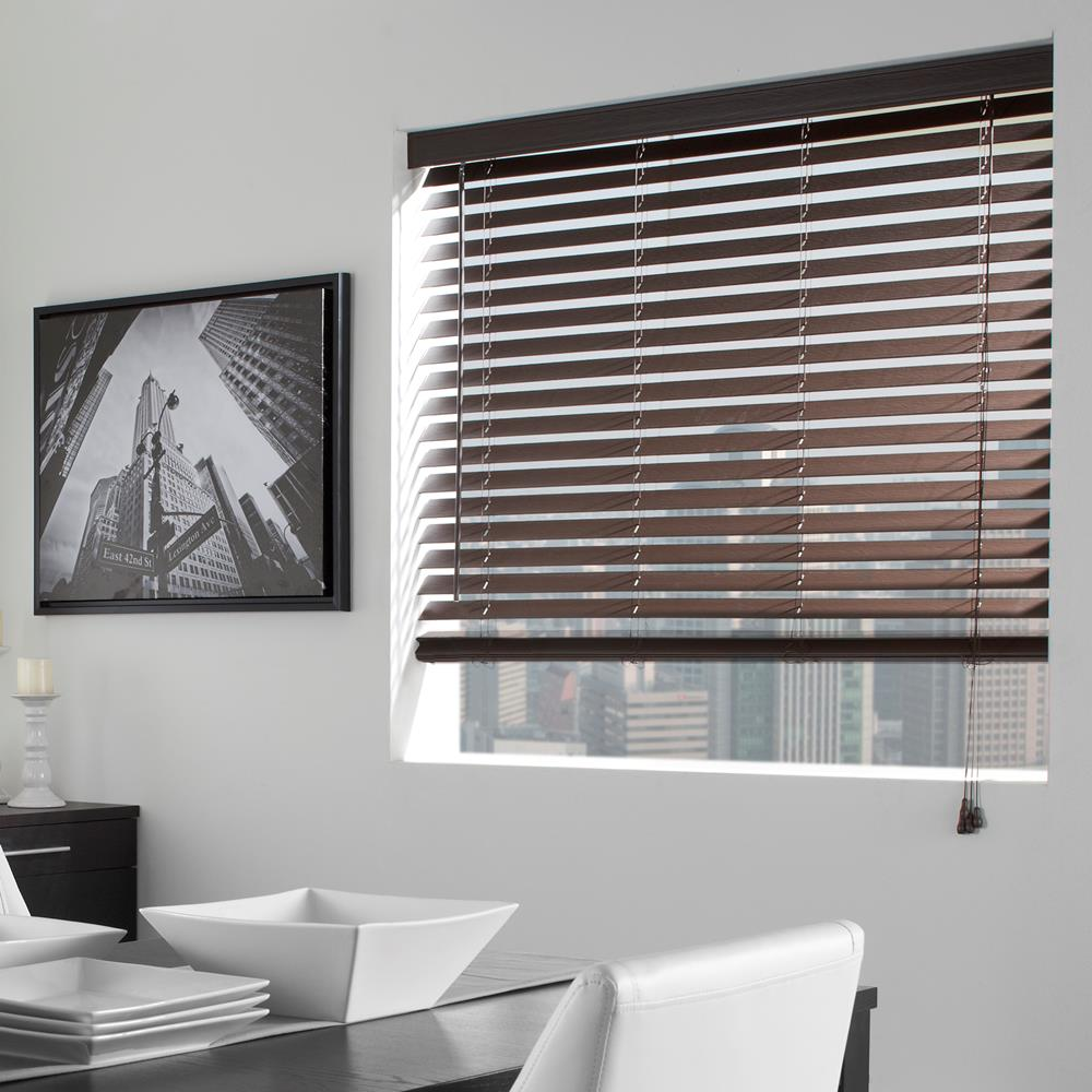 Faux wood blind faux wood horizontal blinds windows for 2 way window blinds