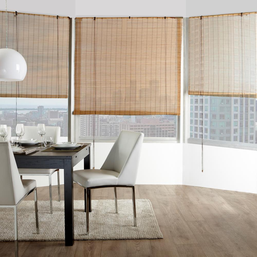 bamboo roll up blind bamboo roller shades windows. Black Bedroom Furniture Sets. Home Design Ideas
