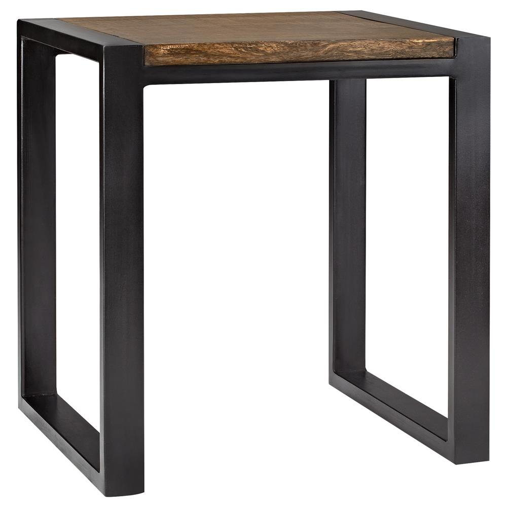 Atelier industrial chic wood nesting table with metal - Table industrielle bois metal ...