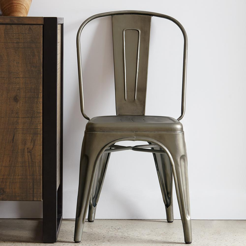 atelier industrial metal dining chair dining chairs seating shop by