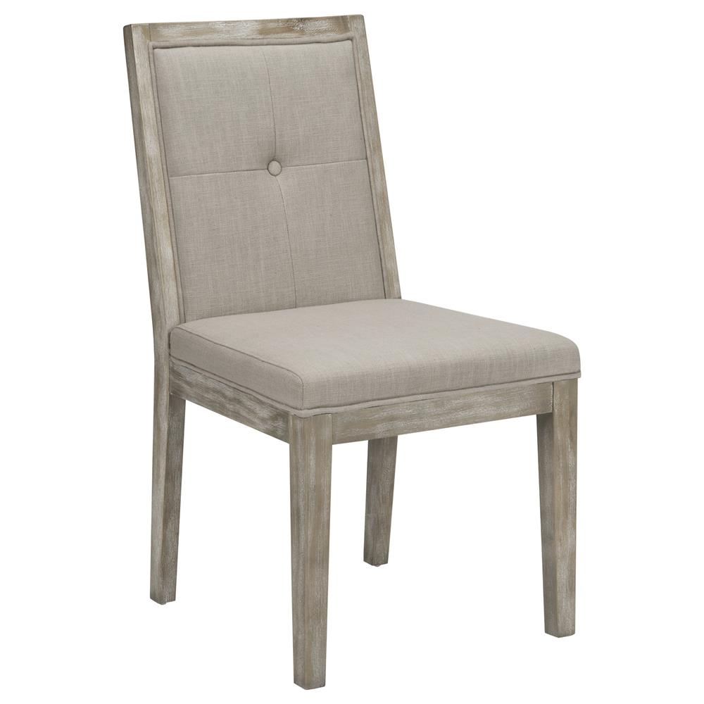 Atelier Reclaimed Treasures Fabric And White Wash Wood Dining Chair DININ