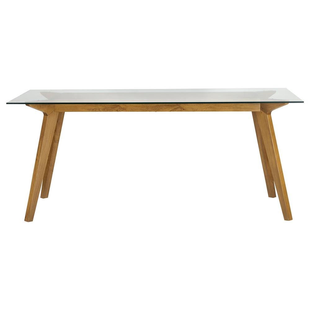 HD wallpapers glass dining table with oak legs
