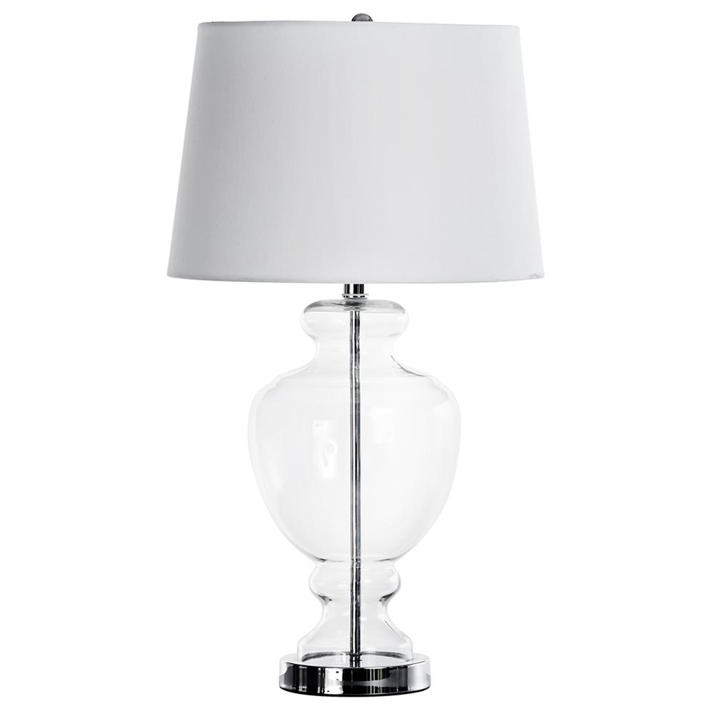table lamp with clear glass base table lamps lighting. Black Bedroom Furniture Sets. Home Design Ideas