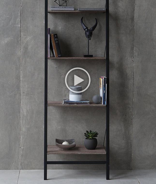 Ladder bookshelf for Meuble bouclair